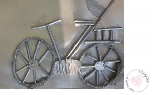 fiets knutselen met rietjes