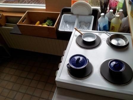 speelhoek de keuken van het restaurant