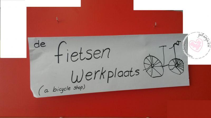 thema de fiets; naam voor werkplaats