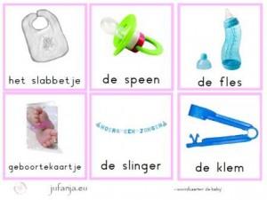 woordkaarten de baby