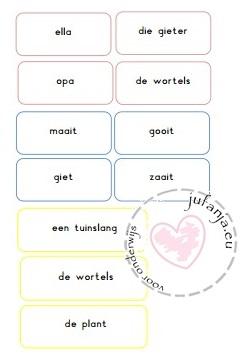 zinnen maken thema de tuin
