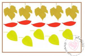 telkaarten herfstbladeren