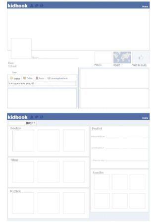 vriendenboek met facebookstijl