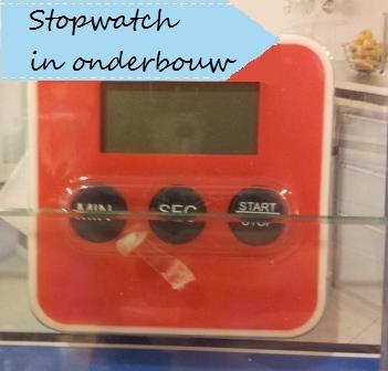 stopwatch in de middenbouw