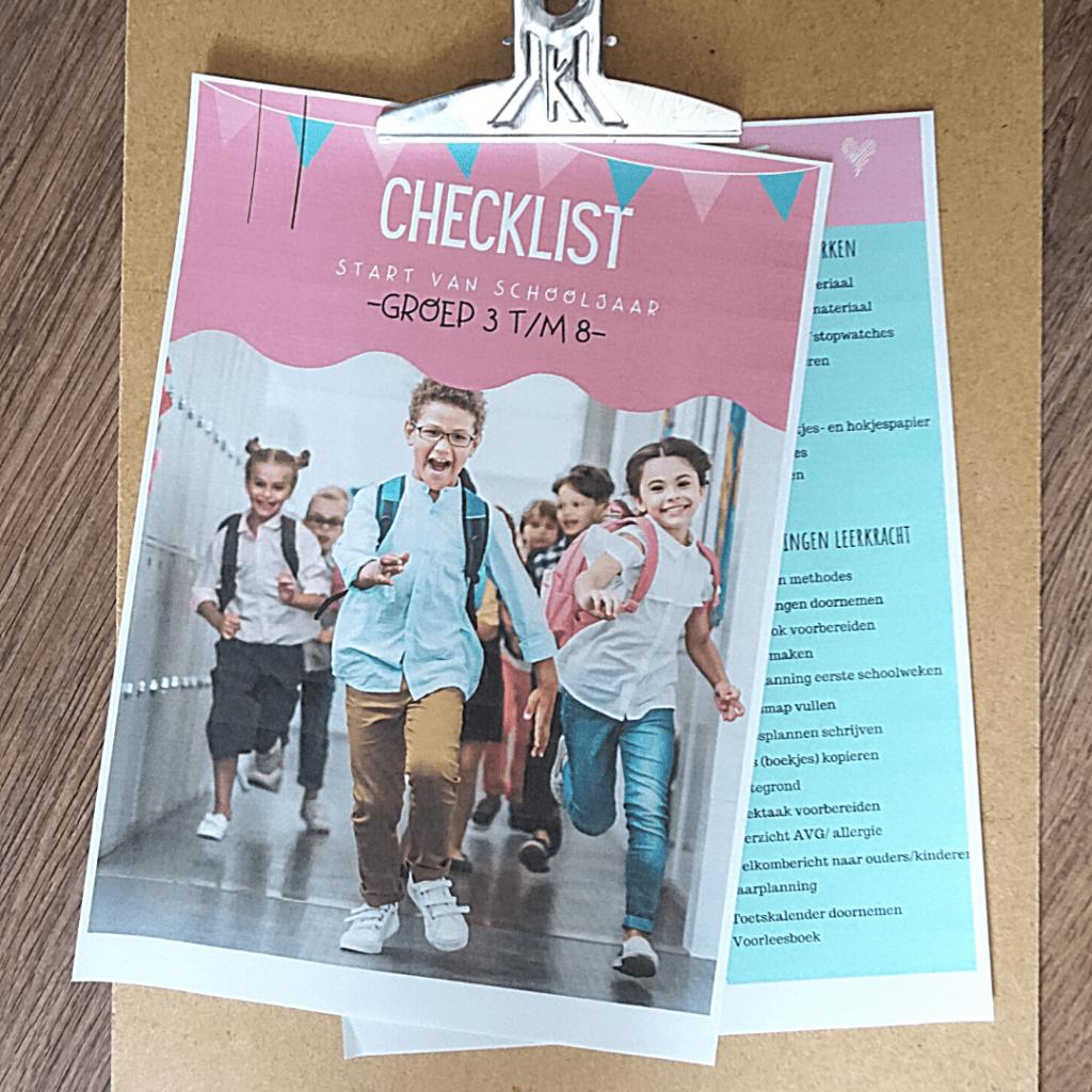 checklist start schooljaar