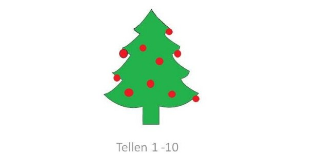 Digibordles tellen thema kerst