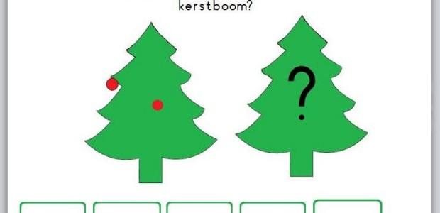 digibordles kerst; splitsen