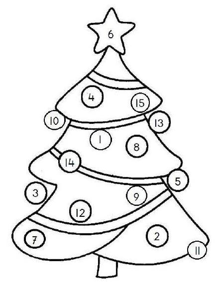 dobbelspel kerstboom cijferspel