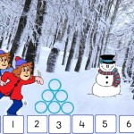 digibordles splitsen thema winter