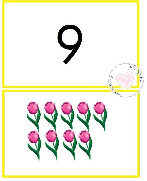 cijfermuur lente