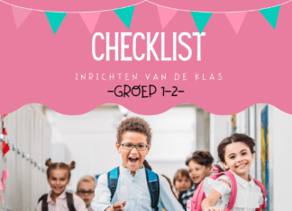 checklist inrichten van kleuterklas