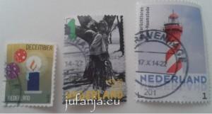 postzegels plakken van klein naar groot