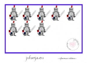 cijferkaart cijfermuur ridders