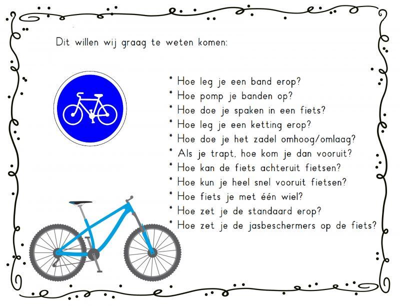 leervragen thema de fiets