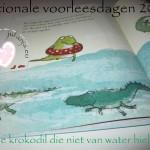nationale voorleesdagen; de krokodil die niet van water hield