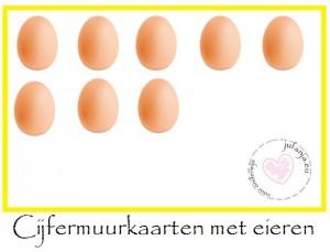 cijfermuur met eieren