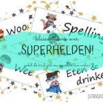 dagritmekaarten rond superhelden