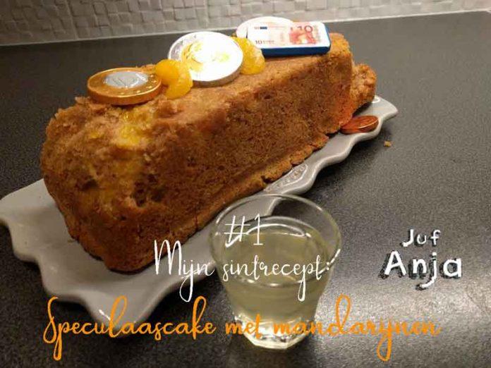 sintrecept; speculaascake met mandarijnen
