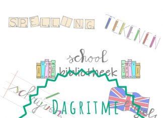 Dagritmekaarten letters & doodles
