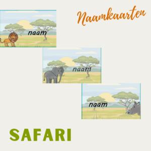 klassenmanagment naamkaarten safari