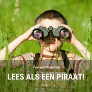 bewegend leren lezen piraten