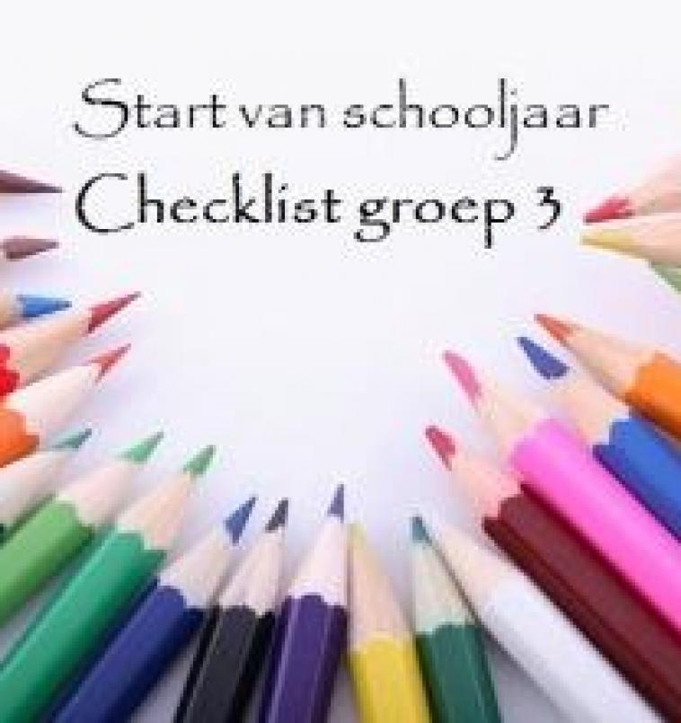 Checklist start van schooljaar:   groep 3