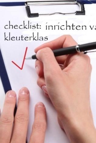 Checklist: inrichten van kleuterklas