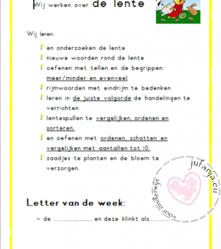 Schatkist:  posters bij doelen anker lente
