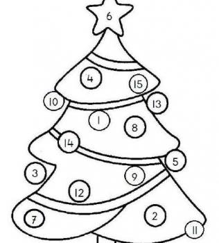 Kerstboom cijferspel
