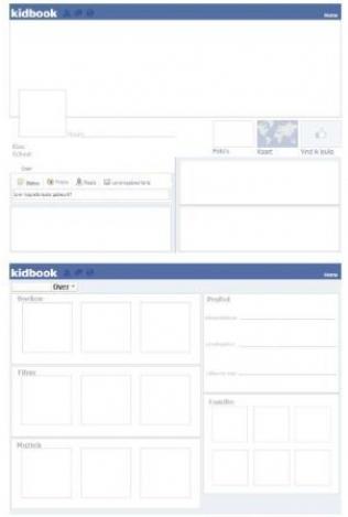 Vriendenboekje in facebookstijl