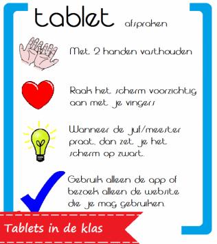 Poster afspraken gebruik tablet