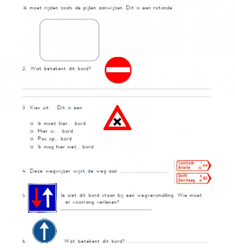 Toets verkeersborden